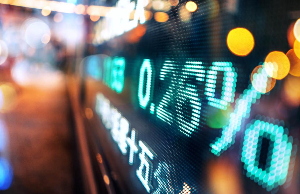Display stock market numbers